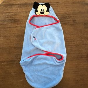 Disney Mickey Mouse Blue Wrap Infant Towel 0-6M